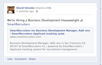 posting jobs on facebook