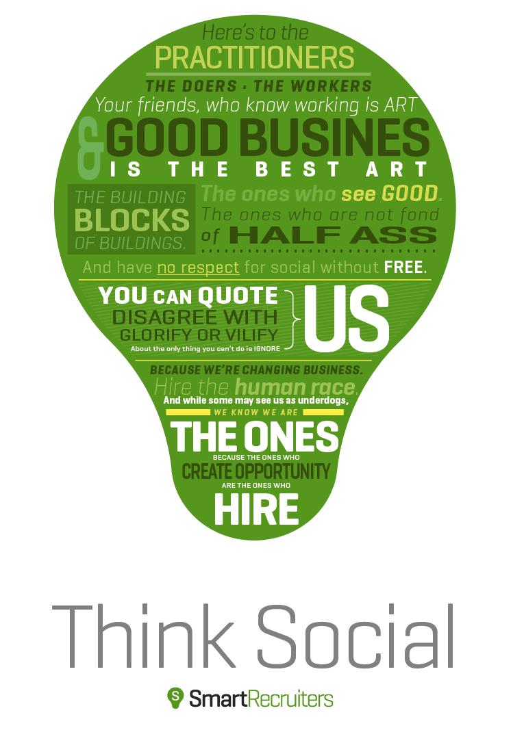 Social Recruiting, #SocialRecruiting, think social