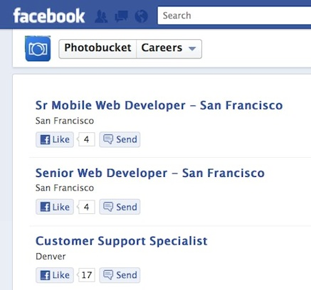 SmartRecruiters Photobucket Facebook