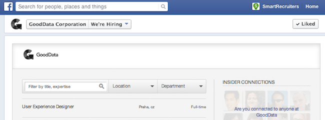 Facebook Recruiting App