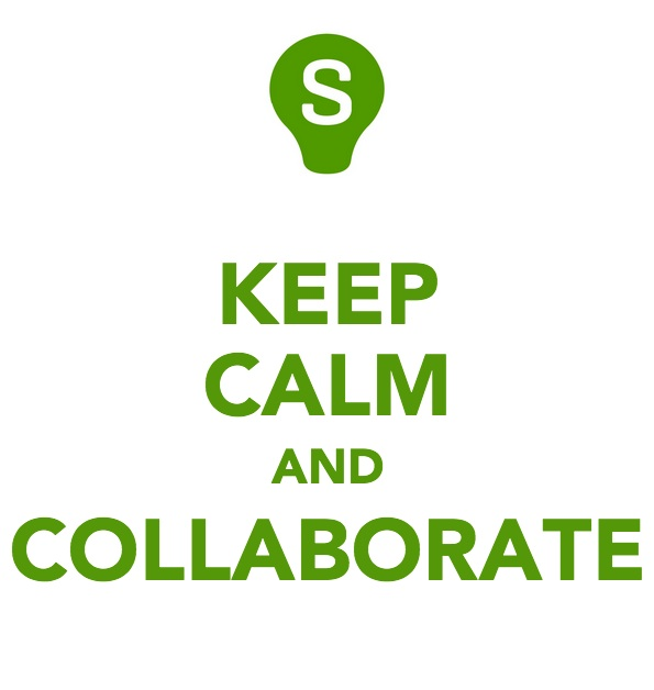 keep calm and collaborate
