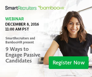 Webinar - 9 Ways to Engage Passive Candidates