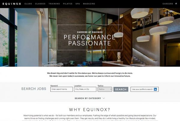 Equinox career site