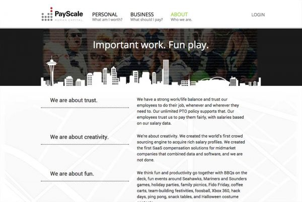 Payscale career site
