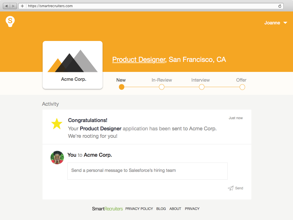 Candidate Experience   candidate portal