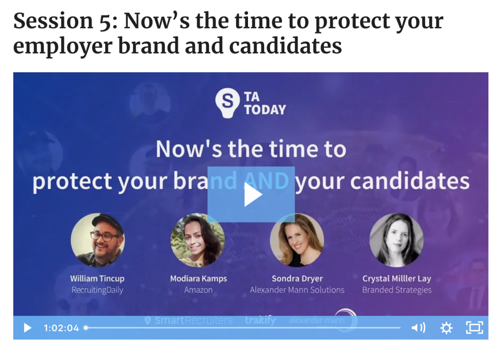 The Time is Now: Protect Your Employer Brand and Candidates