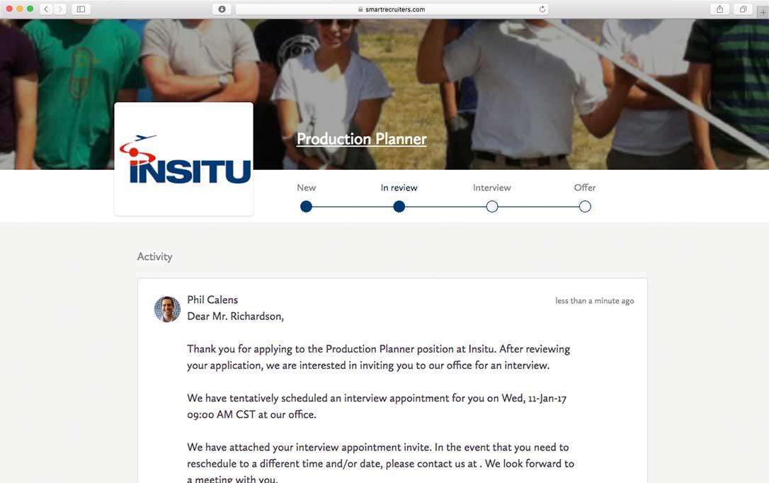 Job candidate portal