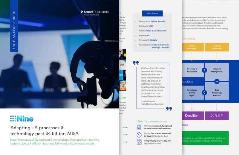 Nine: Adapting TA Processes & Tech post $4 billion M&A