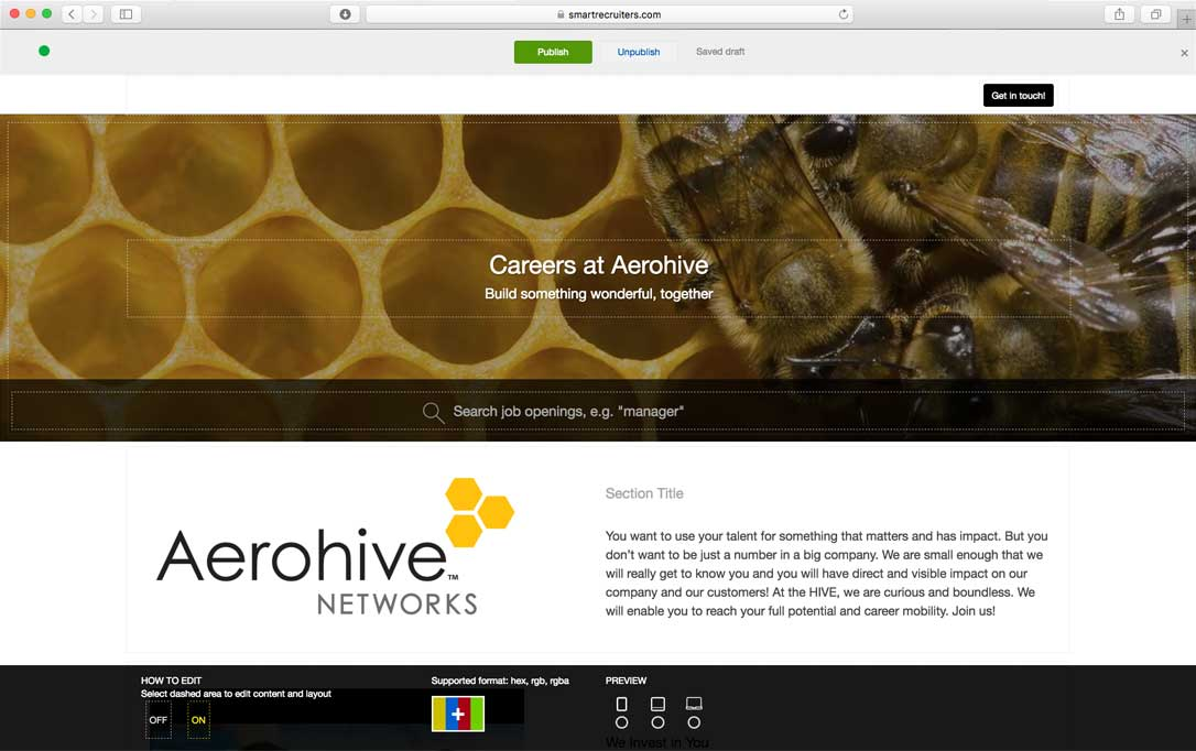Career website builder