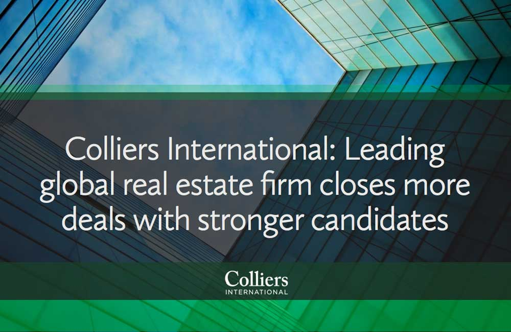 Colliers International: Closes more deals with stronger candidates