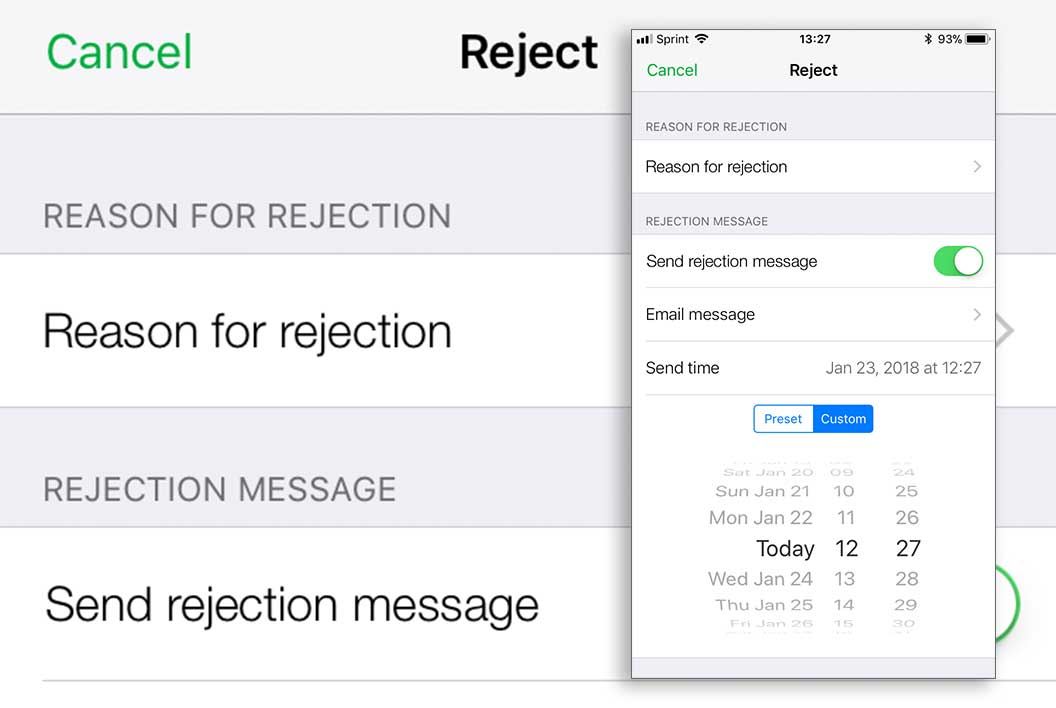 Mobile Rejection
