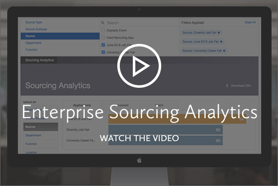 Sourcing Analytics Screen